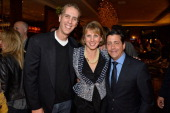 Animator Chris Sanders TheWrap's CEO EditorinChief Sharon Waxman and Weinstein Co COO David Glasser attend TheWrap's 5th Annual Oscar Party at Culina...