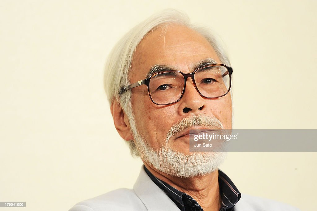 Animator/ Director Hayao Miyazaki attends a press conference to announce his retirement on September 6, 2013 in Tokyo, Japan.