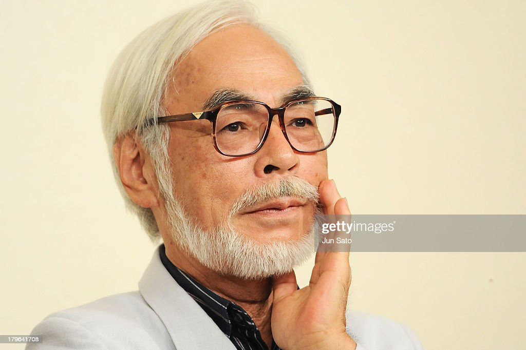 Animator/ Director <a gi-track='captionPersonalityLinkClicked' href=/galleries/search?phrase=Hayao+Miyazaki&family=editorial&specificpeople=732050 ng-click='$event.stopPropagation()'>Hayao Miyazaki</a> attends a press conference to announce his retirement on September 6, 2013 in Tokyo, Japan.