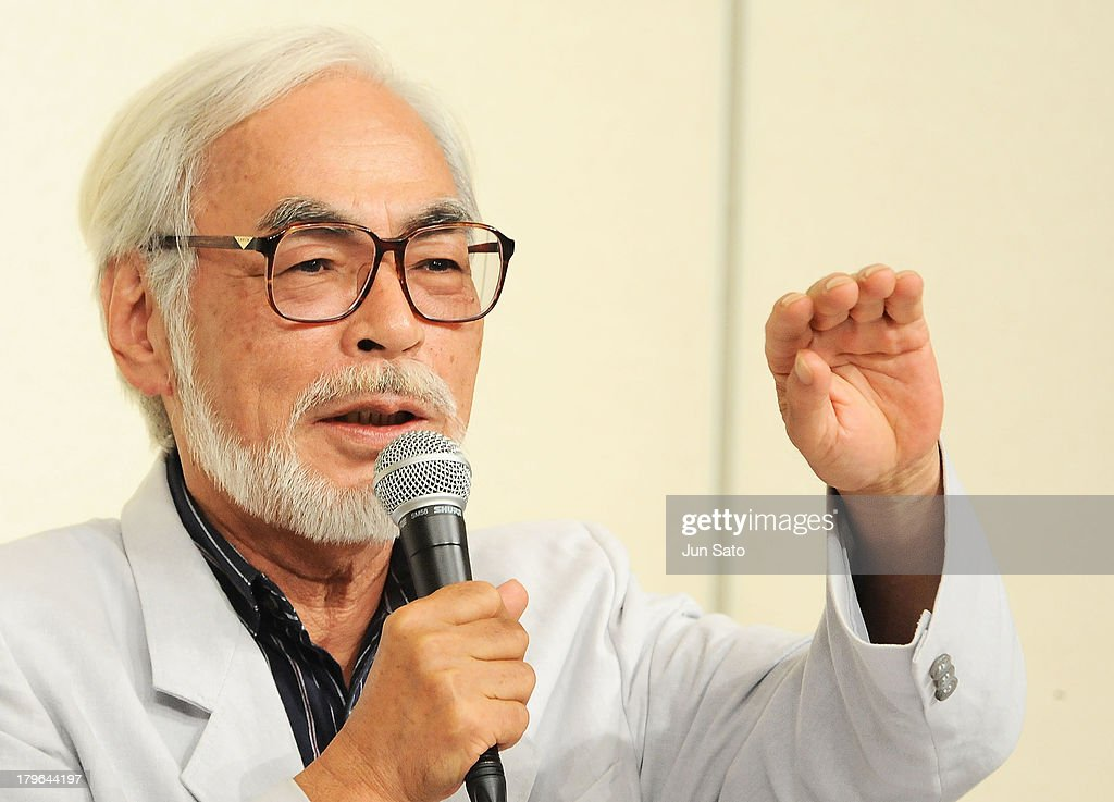 Animator/ Director <a gi-track='captionPersonalityLinkClicked' href=/galleries/search?phrase=Hayao+Miyazaki&family=editorial&specificpeople=732050 ng-click='$event.stopPropagation()'>Hayao Miyazaki</a> attends a press conference to announce the retirement of director/animotor <a gi-track='captionPersonalityLinkClicked' href=/galleries/search?phrase=Hayao+Miyazaki&family=editorial&specificpeople=732050 ng-click='$event.stopPropagation()'>Hayao Miyazaki</a> on September 6, 2013 in Tokyo, Japan.