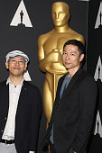 Animator Hiromasa Yonebayashi and producer Yoshiaki Nishimura attend the 88th Annual Academy Awards Oscar Week Celebrates Animated Features held at...