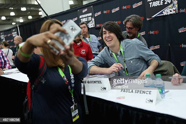 Animator JG Quintel attends the Cartoon Network Signing Regular Show Cartoon Network at New York Comic Con at Jacob Javitz Center on October 10 2015...