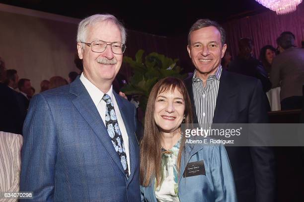 Animator John Musker producer Osnat Shurer and Disney CEO Bob Iger attend the 89th Annual Academy Awards Nominee Luncheon at The Beverly Hilton Hotel...