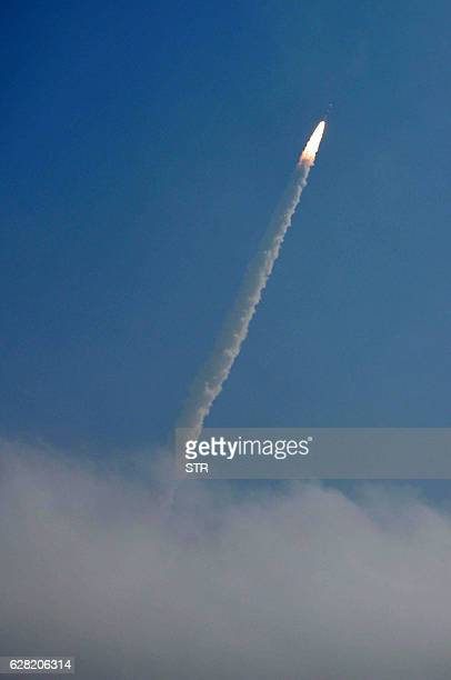 AnIndian Space Research Organisation's RESOURCESAT2A satellite carrying the Polar Satellite Launch Vehicle PSLVC36 launches at Sriharikota on...