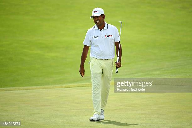 Anirban Lahiri of India during the final round of the 2015 PGA Championship at Whistling Straits on August 16 2015 in Sheboygan Wisconsin