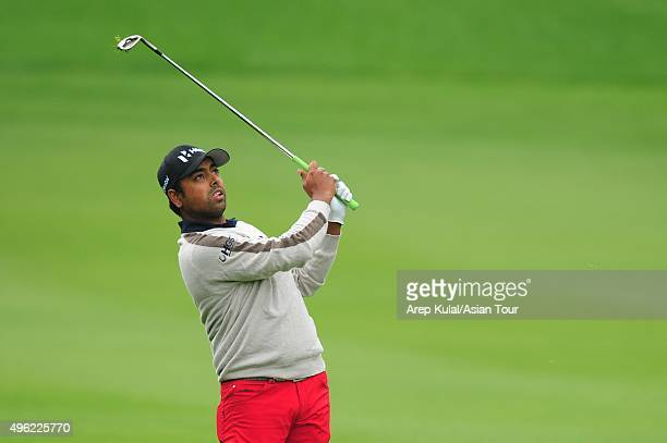 Anirban Lahiri of India pictured during final round of the WGC HSBC Champions at Sheshan International Golf Club on November 8 2015 in Shanghai China