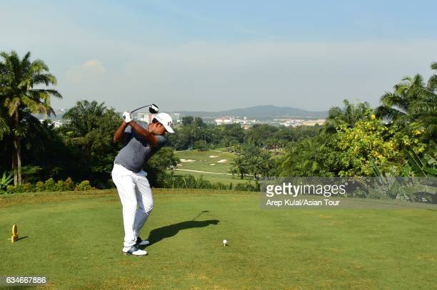 Anirban Lahiri of India pictured during round three of the Maybank Championship Malaysia at Saujana Golf and Country Club on February 11 2017 in...