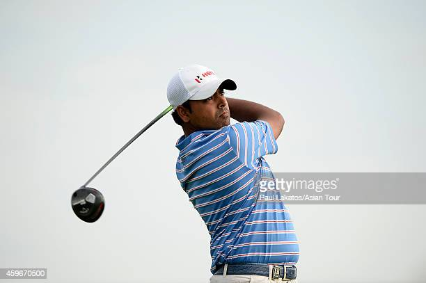 Anirban Lahiri of India plays a shot during round two of the King's Cup at Singha Park Khon Kaen Golf Club on November 28 2014 in Khon Kaen Thailand