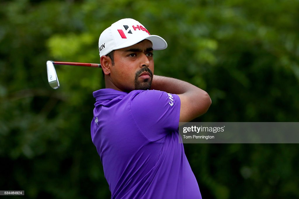 <a gi-track='captionPersonalityLinkClicked' href=/galleries/search?phrase=Anirban+Lahiri&family=editorial&specificpeople=5602830 ng-click='$event.stopPropagation()'>Anirban Lahiri</a> of India plays his shot from the sixth tee during the First Round of the DEAN & DELUCA Invitational at Colonial Country Club on May 26, 2016 in Fort Worth, Texas.