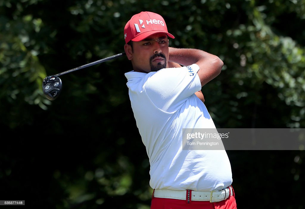 <a gi-track='captionPersonalityLinkClicked' href=/galleries/search?phrase=Anirban+Lahiri&family=editorial&specificpeople=5602830 ng-click='$event.stopPropagation()'>Anirban Lahiri</a> of India plays his shot from the sixth tee during the Final Round of the DEAN & DELUCA Invitational at Colonial Country Club on May 29, 2016 in Fort Worth, Texas.