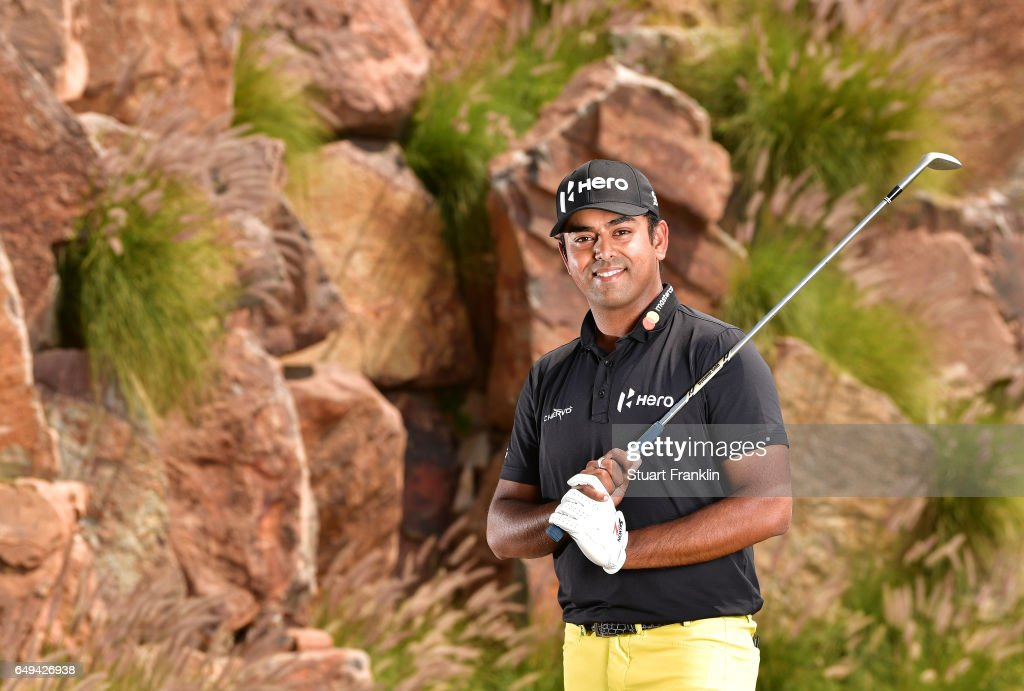 Anirban Lahiri of India poses for a picture during the pro am prior to the start of the Hero Indian Open at Dlf Golf and Country Club on March 8 2017 in New Delhi, India.