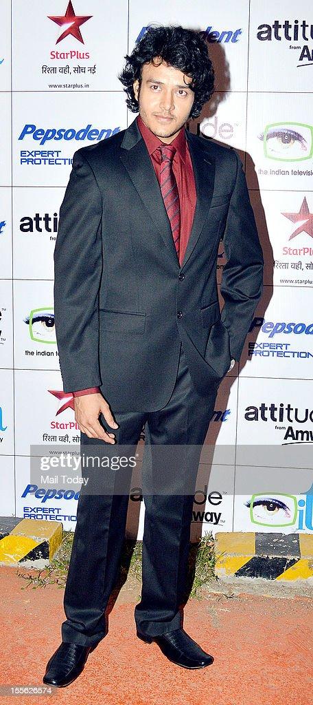 Anirudh Dave during Indian Television Academy Awards 2012 (ITA Awards), held in Mumbai on November 4, 2012.