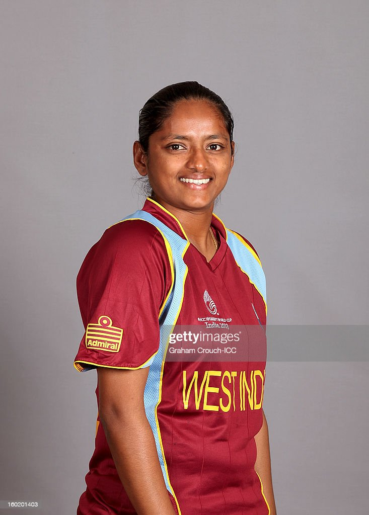Anisa Mohammed of West Indies poses at a portrait session ahead of the ICC Womens World Cup 2013 at the Taj Mahal Palace Hotel on January 27, 2013 in Mumbai, India.