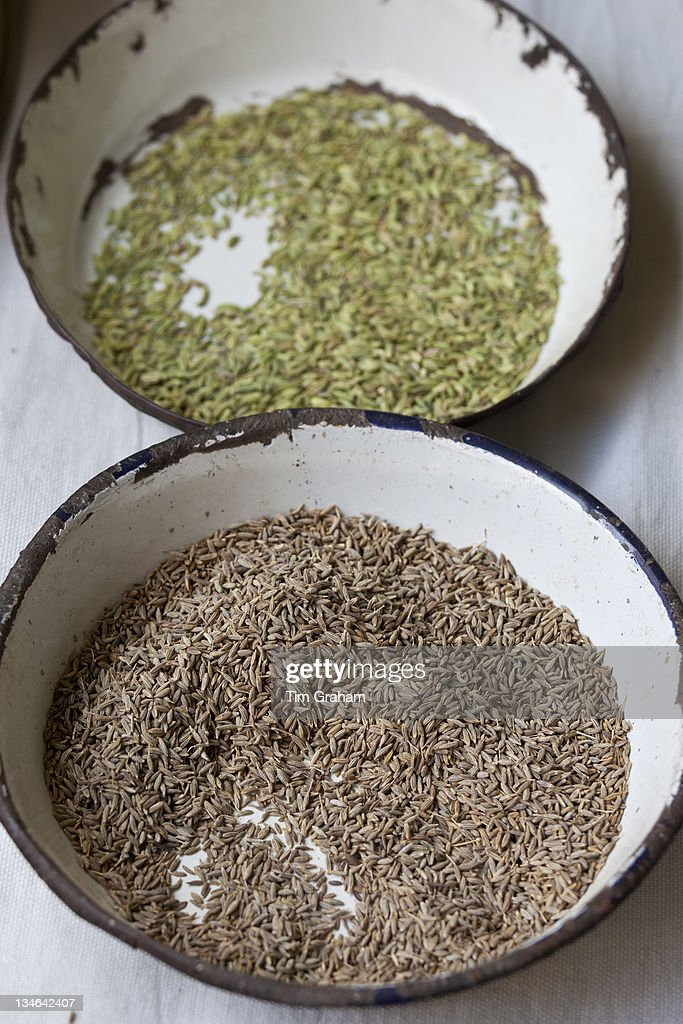 Anise and Cumin on sale at Old Delhi Khari Baoli Spice and Dried Foods Market India