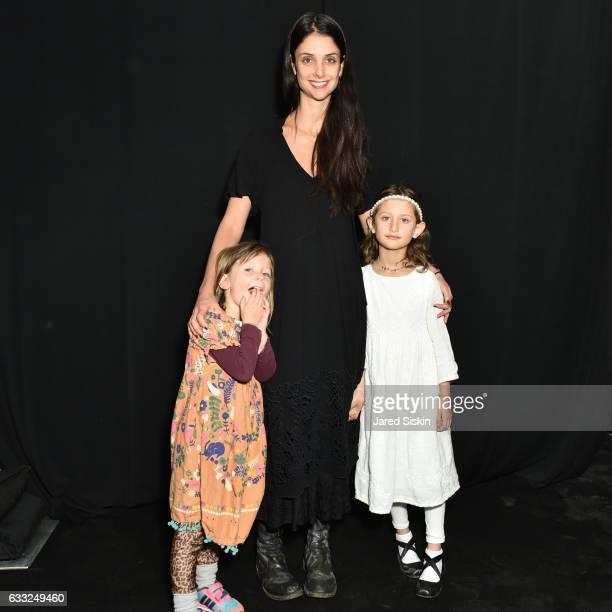 Anise Lerario Geller Ana Lerario Geller and Luna Lerario Gelle attend backstage at Robert Geller fashion show during NYFW Men'sat Skylight Clarkson...