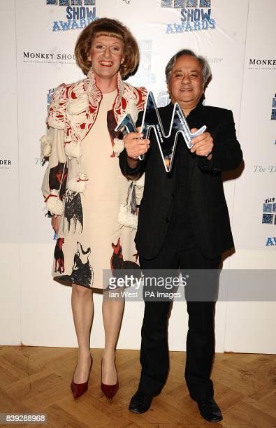 Anish Kapoor with the Visual Arts award at the South Bank Show Awards 2010 at the Dorchester Hotel Park Lane London