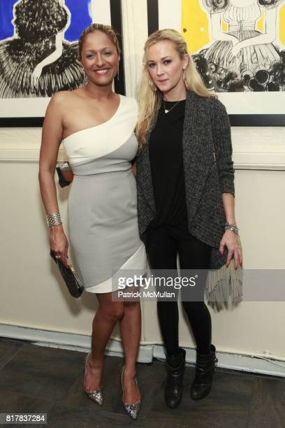 Anisha Lakhani and Dabney Mercer attend DAVID FOOTE'S MADONNA CHILD Opening at St John's Lutheran Church on October 27 2010 in New York City