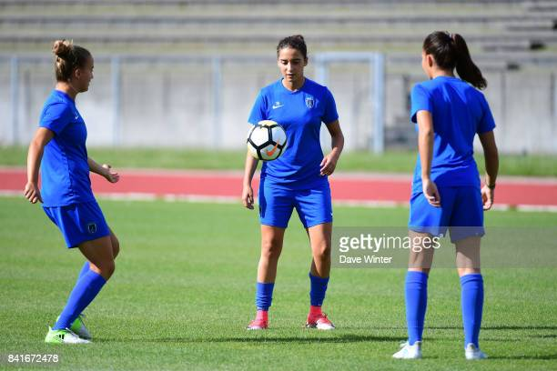 Anissa Lahmari of Paris FC during a training session on September 1 2017 in Bondoufle France