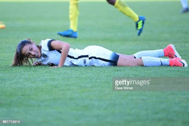 Anissa Lahmari of Paris FC during the women's Division 1 match between Paris FC and Paris Saint Germain on October 15 2017 in Paris France