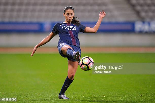 Anissa Lahmari of PSG during the UEFA Women's Champions League match between Paris Saint Germain and Biik Kazygurt at Stade Charlety on November 17...