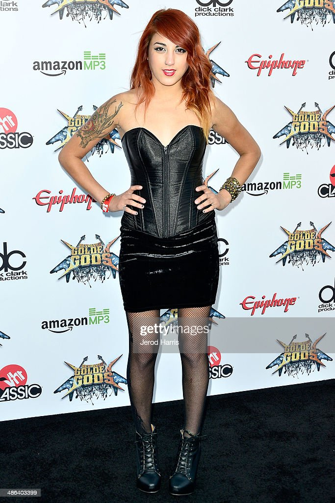 Anissa Rodriguez of 'Eyes Set to Kill' arrives at the 2014 Revolver Golden Gods Awards at Club Nokia on April 23, 2014 in Los Angeles, California.