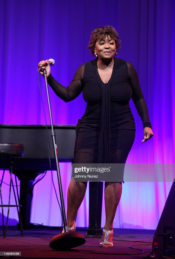 Anita Baker performs at the 13th Annual Russel Simmons Rush philanthropic ART FOR LIFE on July 28, 2012 in East Hampton, New York.