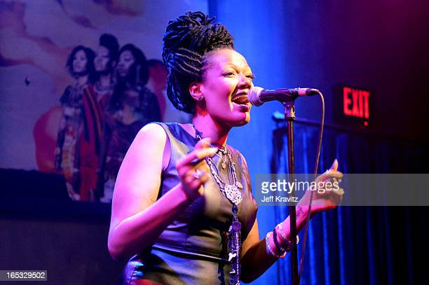 Anita Blas of King performs in concert at The Sayers Club on April 2 2013 in Hollywood California