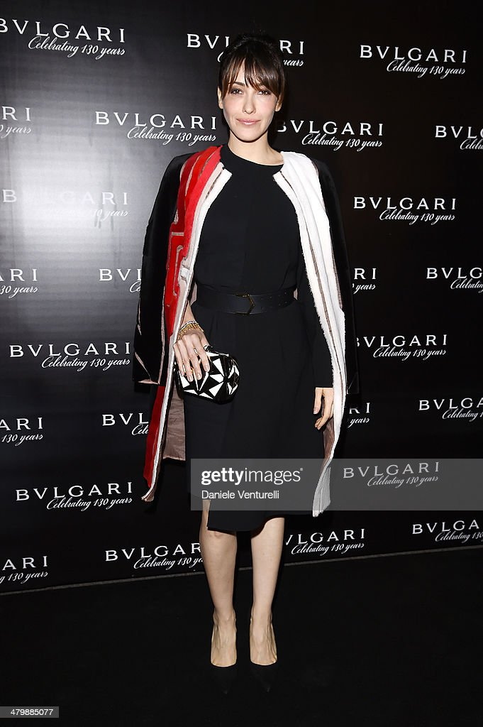 Anita Caprioli attends 'Bvlgari Celebrates 130 Years In Rome' at Via Condotti on March 20, 2014 in Rome, Italy.