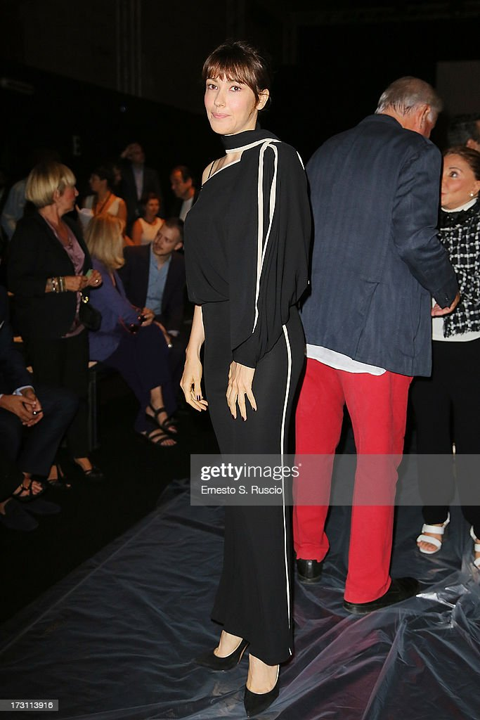 Anita Caprioli attends the Jean Paul Gaultier Couture fashion show as part of AltaRoma AltaModa Fashion Week Autumn/Winter 2013 on July 7, 2013 in Rome, Italy.