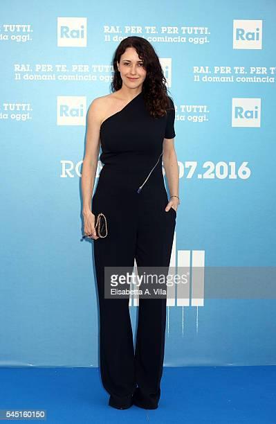 Anita Caprioli attends the Rai Show Schedule Presentation at Salone Delle Fontane on July 5 2016 in Rome Italy