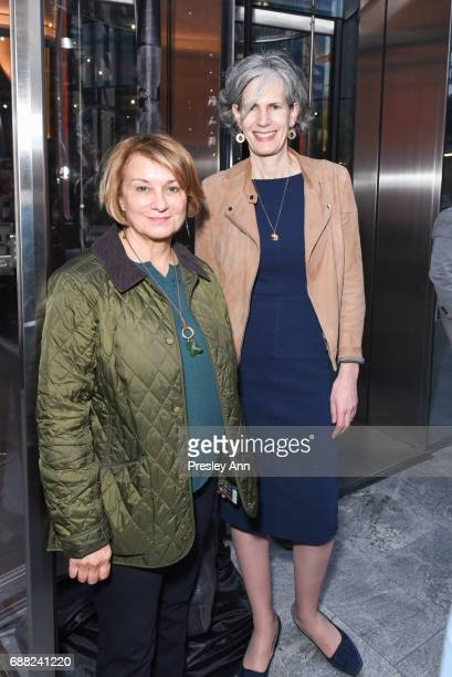 Anita Contini and guest attend The Shed First Reveal VIP Cocktail Party at The Shed on May 24 2017 in New York City