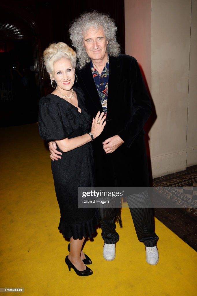Anita Dobson and Stephen Fry attend The Mercury Phoenix Trust Queens Aids Benefit at One Mayfair on September 5, 2013 in London, England.
