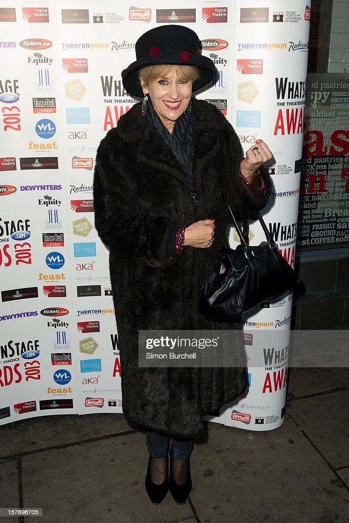 Anita Dobson attends the Whatsonstage.com Theare Awards nominations launch at Cafe de Paris on December 7, 2012 in London, England.