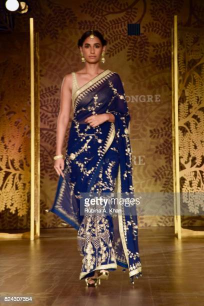 Anita Dongre's 'Tree of Love' collection during FDCI's India Couture Week 2017 at the Taj Palace hotel on July 29 2017 in New Delhi India