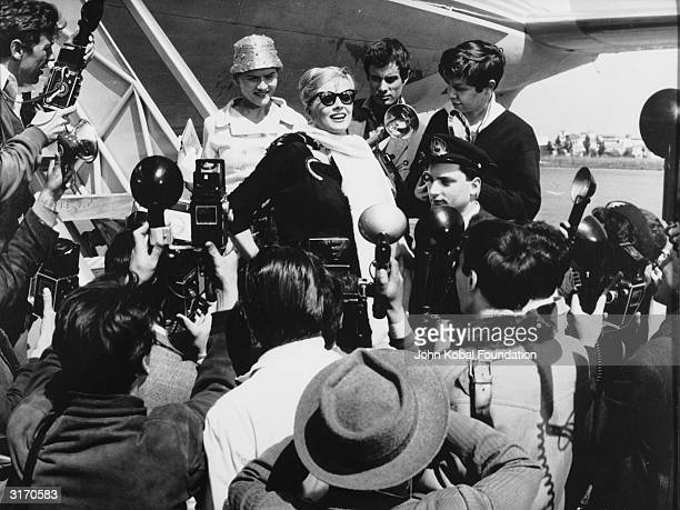 Anita Ekberg plays glamorous movie star Sylvia in 'La Dolce Vita' directed by Federico Fellini