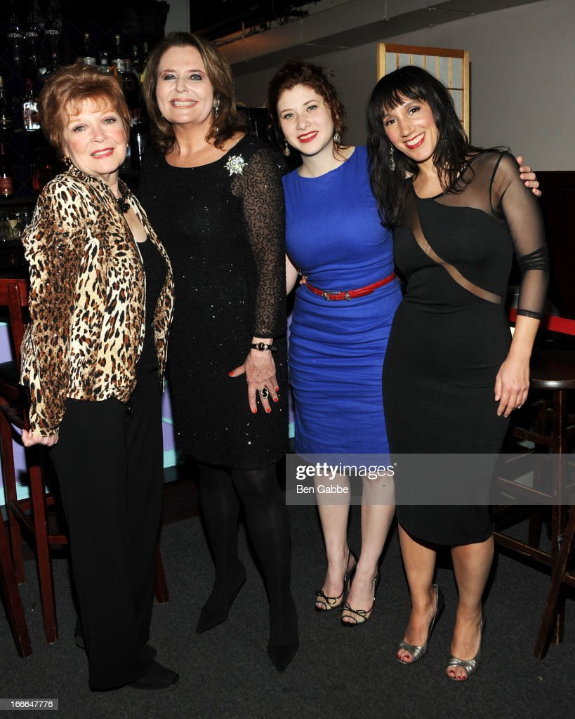 Anita Gillette, Randie Levine-Miller, Nora Menken and Gabrielle Stravelli attend A Swell Party To Benefit the Actors Fund at the Metropolitan Room on April 14, 2013 in New York City.