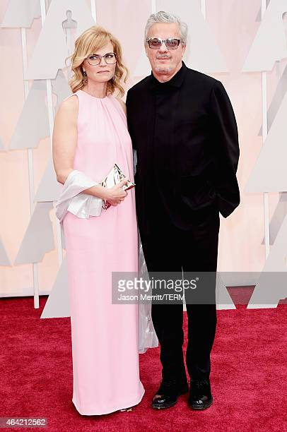 Anita Greenspan and musician Mark Mothersbaugh attend the 87th Annual Academy Awards at Hollywood Highland Center on February 22 2015 in Hollywood...
