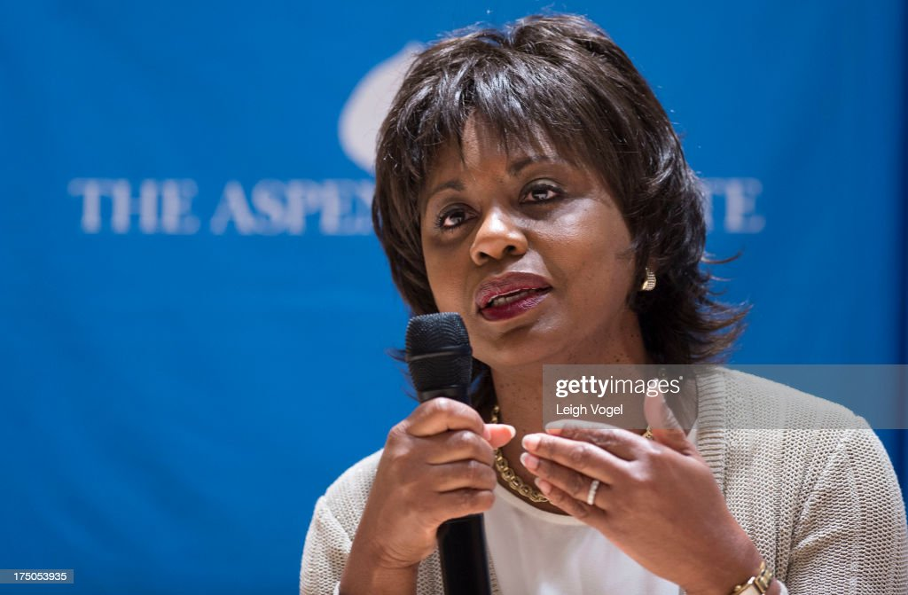 <a gi-track='captionPersonalityLinkClicked' href=/galleries/search?phrase=Anita+Hill&family=editorial&specificpeople=655733 ng-click='$event.stopPropagation()'>Anita Hill</a> speaks during Anita, NEW VIEWS Documentaries & Dialogue, co-presented by the Aspen Institute Arts Program and Aspen Film at the Paepke Auditorium at the Aspen Institute on July 29, 2013 in Aspen, Colorado.