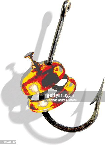 Anita Langemach color illustration of brass office bell impaled on fishhook as bait The Gazette /MCT via Getty Images