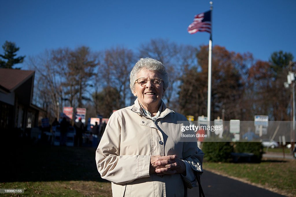 Anita Laventure poses for a portrait after voting at St. Pius CCD Center in Manchester, New Hampshire on Election Day, November 6, 2012. Laventure voted for Romney, and is a registered Republican.