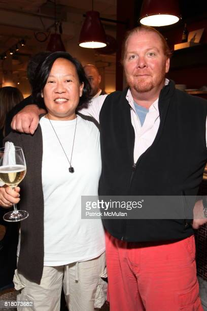 Anita Lo and Mario Batali attend Epicurious 15th Anniversary Dinner at Eataly on September 29 2010 in New York