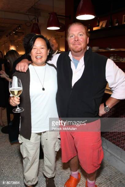 Anita Lo and Mario Batali attend Epicurious 15th Anniversary Dinner at Eataly on September 29 2010 in New York City