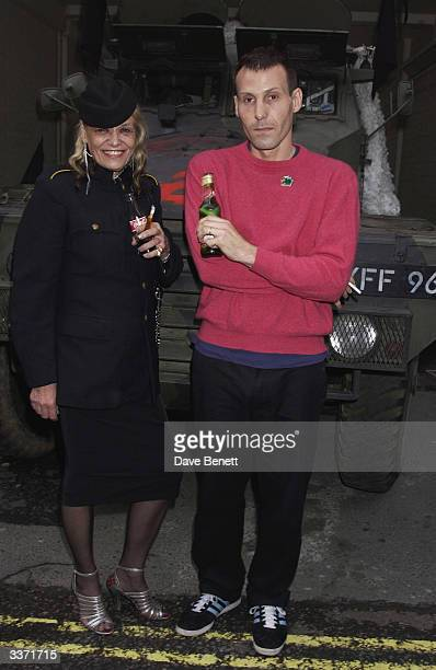 Anita Pallenberg and her son artist Marlon Richards at the launch party of Dan Macmillan's new multi media exhibtion area Zoltar The Magnificent held...