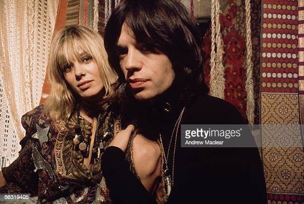 Anita Pallenberg and Mick Jagger playing Pherber and Turner in a scene from 'Performance' codirected by Nicolas Roeg 1970
