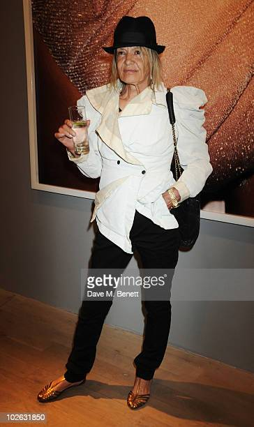 Anita Pallenberg attends the private view of 'Mario Testino Kate Who' at Phillips de Pury Company on July 5 2010 in London England