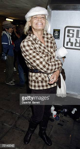 Anita Pallenberg attends the private view of 'Zoltars Gaping Memory Hole' by Dan Macmillan to launch the new site zoltarcom at the Subway Gallery on...