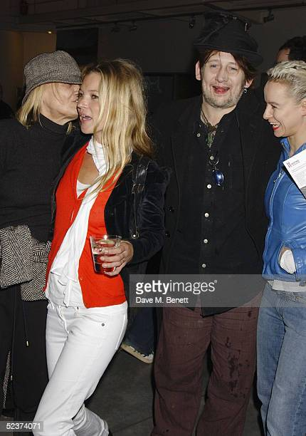 Anita Pallenberg former partner of musician Keith Richards model Kate Moss musician Shane MacGowan and actress Samantha Morton attend the party to...