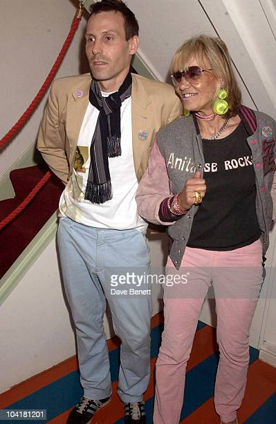 Anita Pallenberg With Marlon Richards Who Co Owns The Zoltar Gallery The Launch Party For A New Exhibition By Photographer Mick Rock Of Images Of...