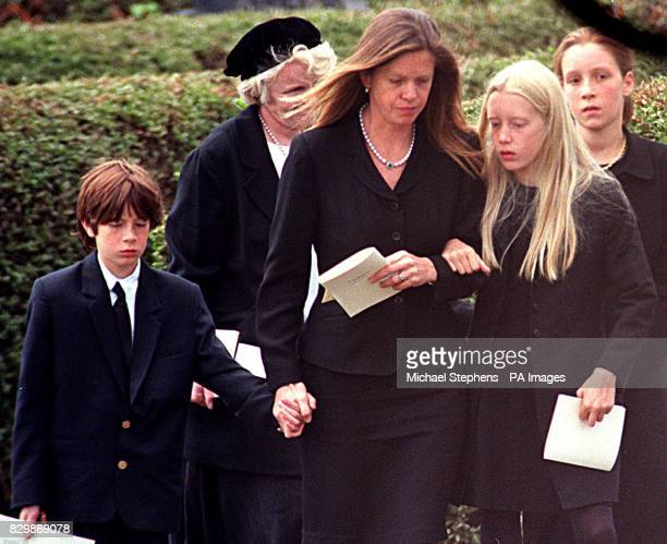 Anita Rothschild with her family at the funeral of her husband the financier Amschel Rothschild who hanged himself in Paris last week Several hundred...