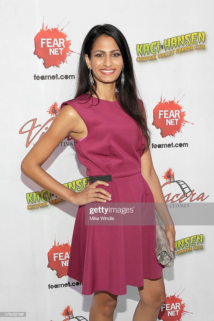 Anita Vora arrives at the 2013 Viscera Film Festival Red Carpet Event at American Cinematheque's Egyptian Theatre on July 13, 2013 in Hollywood, California.